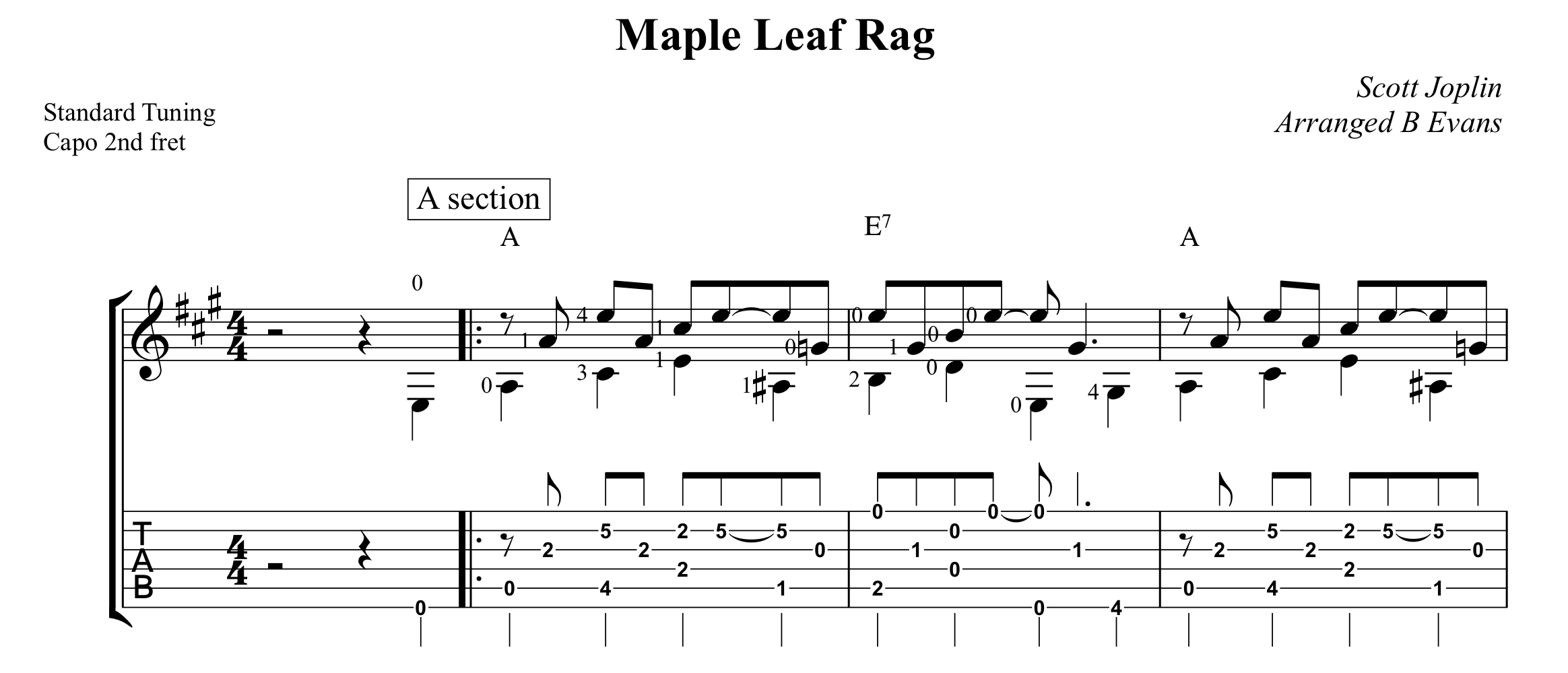 Maple Leaf Rag Bob Evans